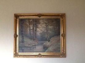 canvas offers over £25,mahogany mirror £15,£47 1895 Queen Victoria silver crown good condition