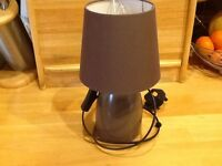 """""""2"""" bedside table lamps , excellent condition , brown in colour,"""