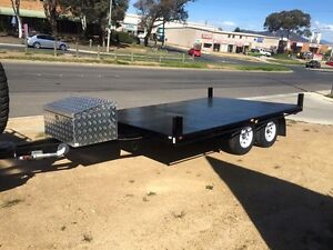 Flat bed tandem tipper trailer 2 ton large 2400x3000 Mitchell Gungahlin Area Preview