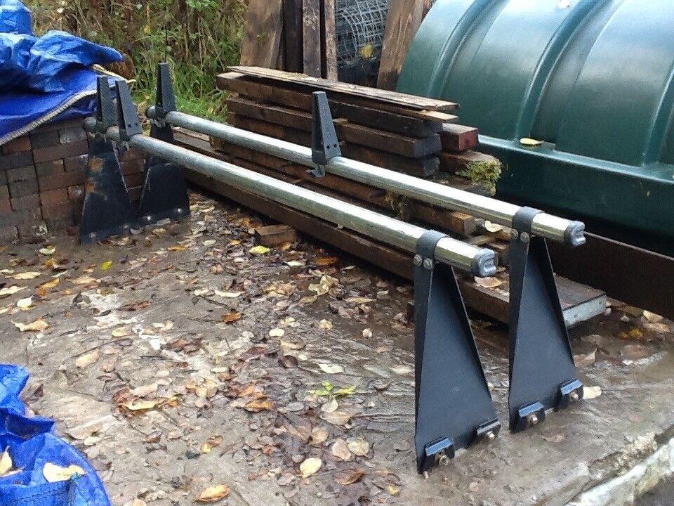 Rhino roof bars for transit semi high top