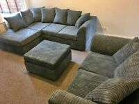 BRAND NEW JUMBO CORD COUCHES IN CORNER AND AVAILABLE IN 3+2 SOFA AS WELL IN DIFFERENT COLOURS