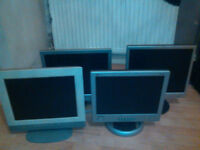 2 X 17 inch LCD monitors and 2x 15inch LCD monitors