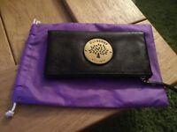 Daria style black leather clutch bag