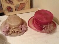 Two Vintage Retro Hats
