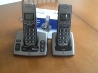 BT Freestyle 750 twin cordless telephones with answering facility