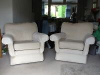 2 easy chairs seen service but still very comfortable