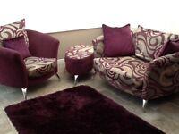 Dfs sofa armchair /footstool and rug