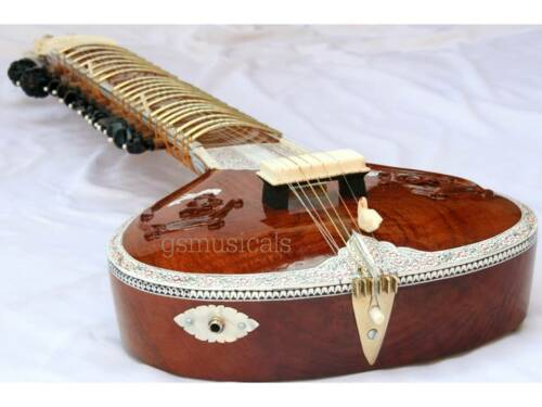 SITAR CARVING FUSION ELECTRIC SITAR WITH GIG BAG GSM017G C