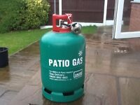 13KG. Patio Gas Bottle with Regulator small amount of gas in it. £20