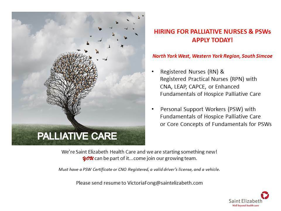 Palliative Personal Support Worker (PSW) | Healthcare | Markham ...