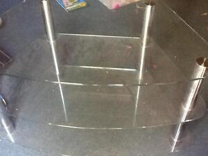 3 tier glass TV DVD stand, paid over $500 approx. as bought in uk Williamstown Barossa Area Preview