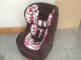 Kiddicare group 0+1 car seat for newborn upto 18kg(to 4yrs)rear and forward facing-washed & cleaned