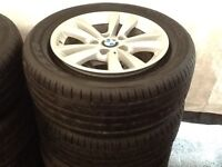"""2014 16"""" BMW X1 Alloys With New Run flat tyres For Sale"""