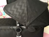 Bugaboo Buffalo RARE Shiny Chevrons FABRIC set
