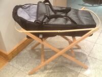 Carrycot and foldable basket stand-£10 the set