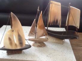 Vintage model boats