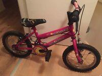 "Girls pink bike 12"""
