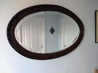 Large Antique Victorian Oval Mirror