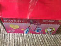 "Brand new still in box 10"" hello kitty bike"