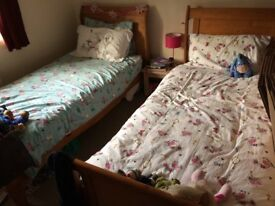 Twin Sleigh Beds - Nearly new