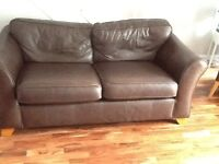 Brown Leather Marks and Spencer Sofa