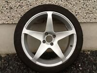 17INCH 4/108 DARE V4 PEUGEOT CITREON FORD ALLOY WHEELS WITH TYRES FIT MOST MODELS