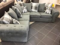 *CHESTERFIELD SOFA IN GRAPHITE* AVAILABLE IN CORNER & 3+2 WITH FOOTSTOOL