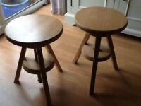 Adjustable height stools