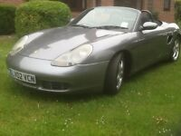 Porsche boxster s in metallic grey 3.2 with 6 speed manual gearbox 2002 02plate