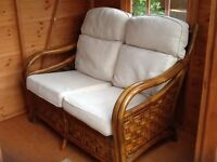Cane two seater settee