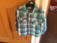 Boys checked shirt (Vertbaudet) age 6 years