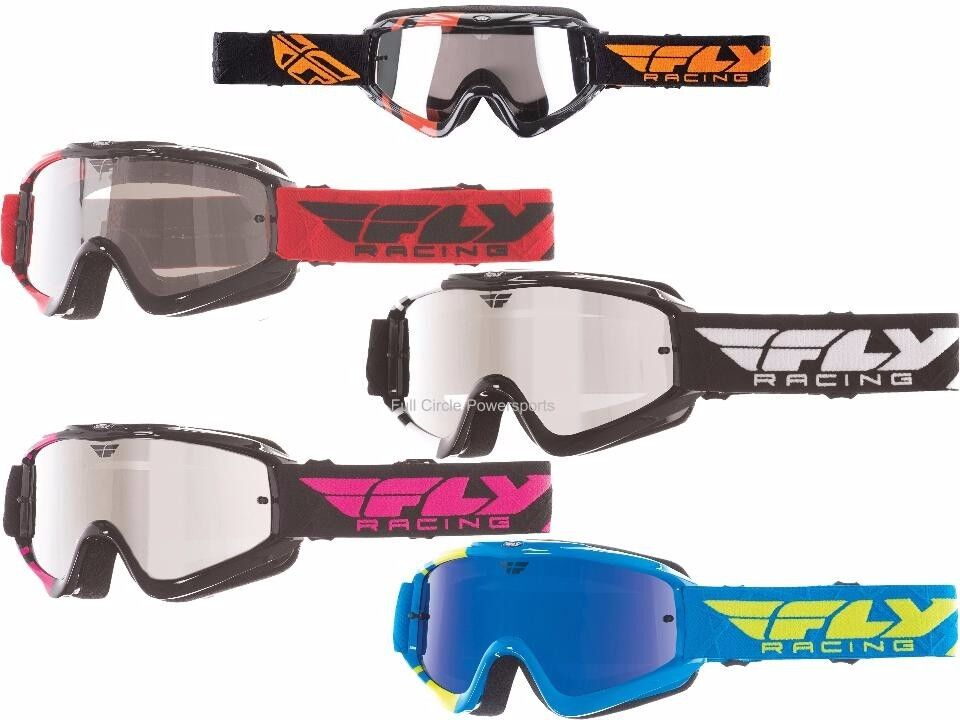 Fly Racing Zone Goggles MX Motocross DirtBike Off Road Mirrored Lens Adult Youth