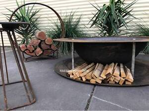 Industrial CAST IRON double plate designer fire pit 90 or 120cm