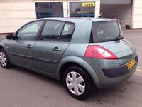 55 PLATE RENAULT MEGANE 1.4 PETROL, CHEAP ROAD TAX, LOW INSURANCE, WITH 1 YEAR MOT,, DRIVE PERFECT,