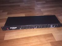 """PRO SOUND A0835 STEREO CROSSOVER 19"""" RACKMOUNT UNIT."""