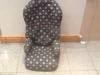 Lightweight 2 piece highback booster car seat for 15kg upto 36kg(4yrsuoto 12yrs)washed and cleaned