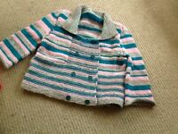 Handknitted lady's chunky jacket