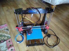 3D Printer with filament.