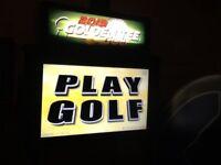 Arcade Retro Golf Mancave Machine