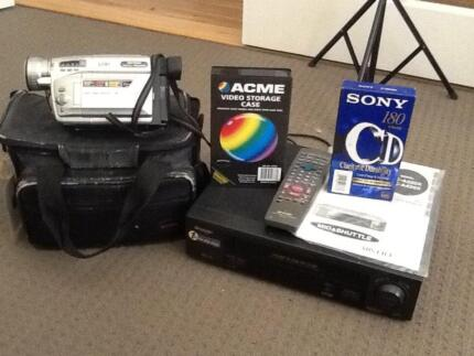 Video camera & VHS recorder