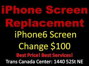 Trans Canada Center screen change iPhone6 $100 iphone6 Plus $120