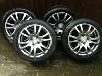 TYRES AND ALLOYS ( IN NEED OF REFURBISHMENT ) FOR SALE