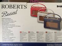 Roberts RD60 Revival Red Portable DAB / FM RDS Digital Radio. **NEW IN BOX**