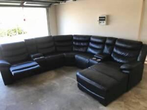 super amart leather large lounge sofa   Sofas   Gumtree Australia ...