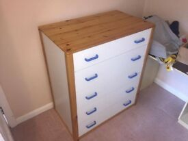 Kids Set of Chest of Drawers & Wardrobe