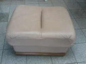 "Leather footstool -barely used -30"" x 24"" x 17""(inches)/76cm x 61cm x 43cm height-no damage or marks"