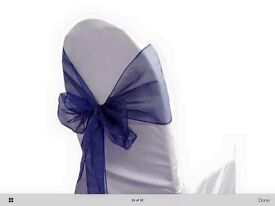Wedding chair sashes/bows x 200 Navy.