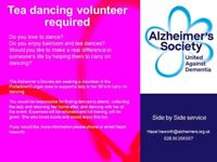 Voluteer in Lurgan or Portadown with interest in tea dancing for Alzheimer's Society