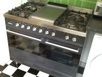 Beautiful dark blue/grey BRITANNIA range cooker, free standing, 4 years old, COLLECT N12