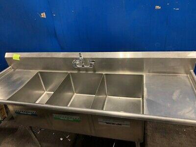 John Boos Custom Built Three Compartment Sink Dish Washing Sink